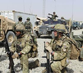 Soldiers from A COY, 3 PARA, Prepare for a Patrol, Showal, Afghanistan, 2011
