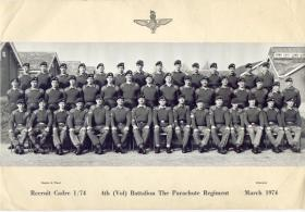 Recruit cadre, March 1974