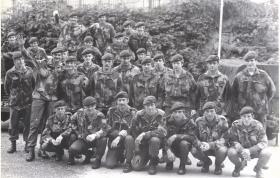 Group photograph of 4 Platoon, B Company, 3 PARA, Bessbrook Mill, June 1976