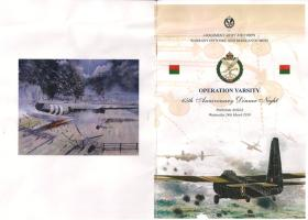 4 Regt AAC Op Varsity Commemorative Dinner Menu Cover, 2010