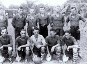 Members of the 12th Para Bn football team, year unknown.