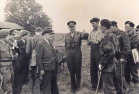 'Manny' Shinwell, War Minister, visiting 4th Parachute Brigade Group Annual Camp, August 1949