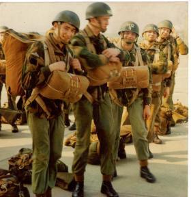 Members of 4 PARA at RAF Leeming 1972