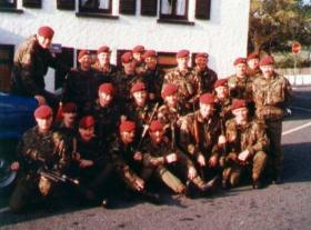 End Ex, 4 PARA, outside a pub on The Isle of Man, date unknown.