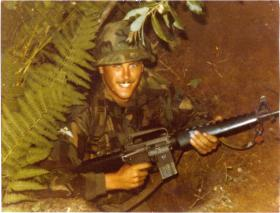 Pte Crichton, A Coy, 4 PARA, on exercise in Minnesota, 1983