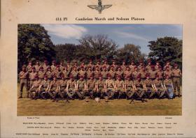 Group Photograph of 414 Platoon