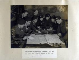 Glider Pilot Regiment Briefing: Lt-Col S.C Griffith Commanding No.2 Wing explains point with map