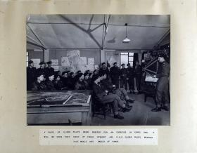 A Party of Glider Pilots being briefed for an exercise in early 1945