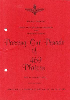 469 Platoon Passing Out Parade Booklet 15 May 1981