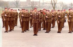 478 Platoon Passing Out Parade, 2 April 1982.