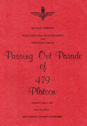 479 Platoon Passing Out Parade Booklet 14 May 1982
