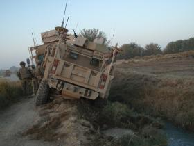 Bogged Down Husky Vehicle, Afghanistan, 2010