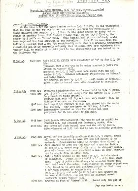 Report by Maj Terrell, OC A Coy 3rd Para Bn, on action at 'Green' Hill, January  1943.