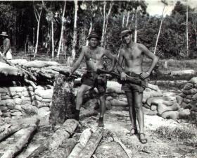 Don Newlands (left) with colleague Borneo 1965