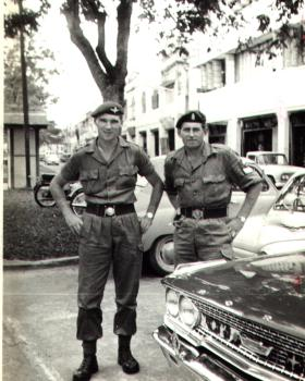 Sgt Don Newlands (right) Cyprus 1960s