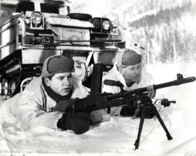 Don Newlands on exercise with 48 AMF(L) Coy, Norway, 1978