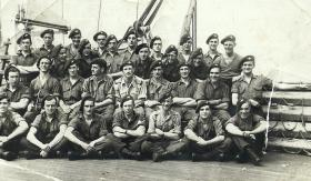 Members of 4th Parachute Battalion on board, c1943/44.