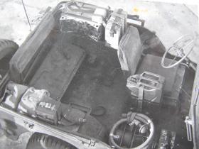 Interior view of Airborne Signals jeep, c.1944