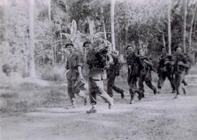 Members of 12th Para Bn having landed at Port Dickson, Malaya, August 1945.