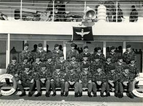 5 Platoon, B-Company, 3rd Battalion, on SS Canberra, May 1982.