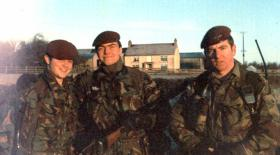 Members of 5 Platoon B Company 3 PARA, County Fermanagh in 1980/81