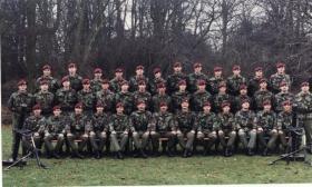 Group photograph of 2 Para, Mortar Platoon