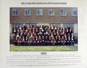 Group Photograph of WO's and Sgt's Mess Headquarters 16th Parachute Brigade, 1968