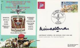 50th Anniversary, 1st Day Cover - signed by Lt Gen Sir Mike Gray