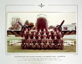 Passing Out photograph of 510 Platoon, October 1985.