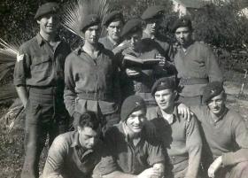 Members of 8th Parachute Battalion, Tel Aviv, c1946.
