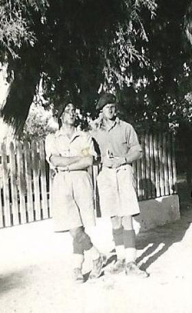 Two members of 8th Para Bn, Tel Aviv, c1946.
