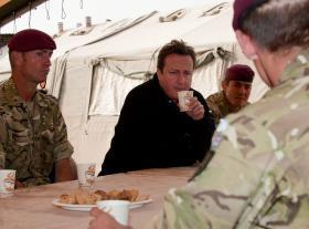 Prime Minister David Cameron visiting 2 PARA, Afghanistan, December 2010