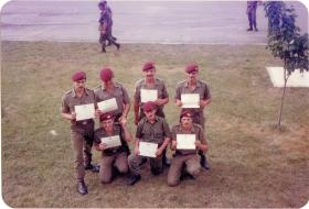 Men of A Coy, 4 PARA Mortars collect their certificates in Minnesota, 1983