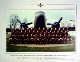 541 Platoon Passing Out photograph, February 1989.