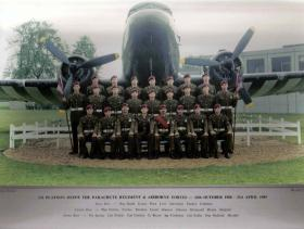 Passing Out photograph of 543 Platoon, April 1989.