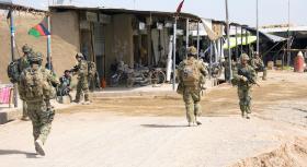 A Coy 3 PARA on patrol in Chah-e Anjir, Afghanistan, Op Herrick XIII.