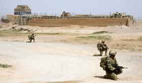 A Company 3 PARA on patrol in Chah-e Anjir alongside the Afghan National Army, Herrick XIII.
