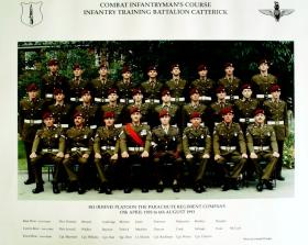 Passing Out photograph of 581 Platoon, August 1993.