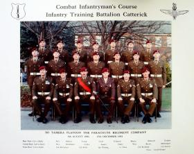 Passing Out photograph of 583 Platoon, December 1993.