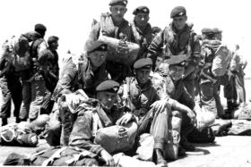 Members of B Coy, 2 PARA, ready to emplane, c1958.