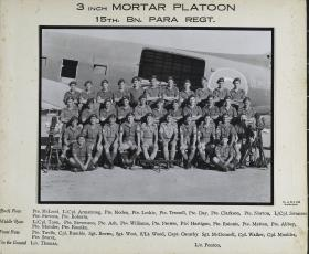 Group Photograph of 3-inch Mortar Platoon, 15th Battalion