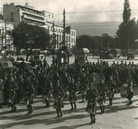 5th Parachute Battalion with pipes and drums in Constitution Square.