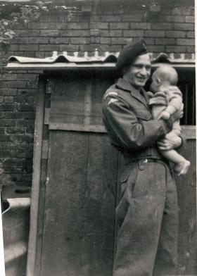 Donald Hicks after re-enlistment into the Royal Signals, 1950