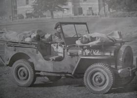 Airborne Medical Jeep showing stretchers, c.1944