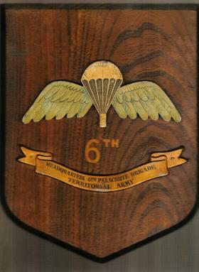 Unit plaque for 6th Parachute Brigade HQ c1948