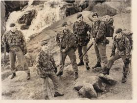 Soldiers from 2 Para Patrols Pln, Northern Ireland, 1980