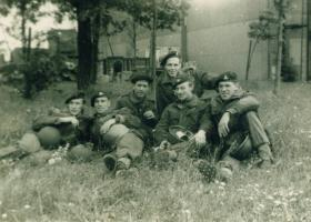 Members of 289 Parachute Regiment RHA relax, North Weald, 1960s