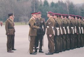 604-5 Platoon, Para Coy, Pass Out Parade ITC Catterick, 8 March 1996.