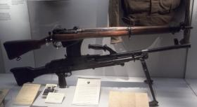 Bren Gun and Lee Enfield Rifle