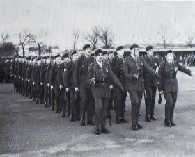 63 Parachute Sqn RCT leave the Parade Ground for the last time, 1977